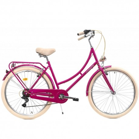 "Bicicleta de paseo DHS 26"" rosa"