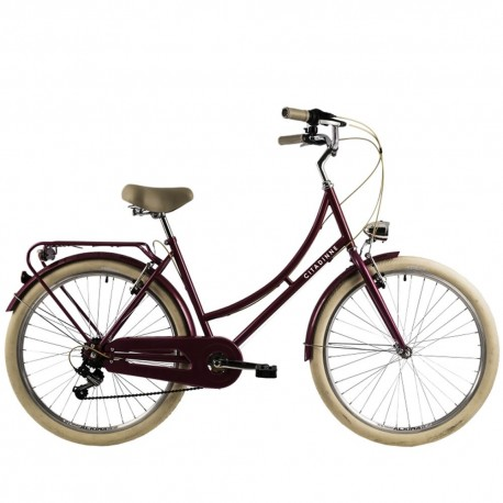 "Bicicleta de paseo DHS 28"" rosa"
