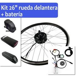 """Pack Kit eléctrico 26"""" rueda delantera + batería"""