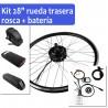 "Pack Kit eléctrico 28"" rueda trasera tipo rosca + batería"
