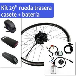"Pack Kit eléctrico 29"" rueda trasera tipo casete + batería"