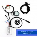 KIT Controlador 15A + LCD05 + Sensor PAS eje cuadradillo + cable