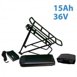 Batería rack trasero 15Ah 36V para kit bicicleta eléctrica