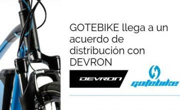GOTEBIKE llega a un acuerdo de distribución con DEVRON