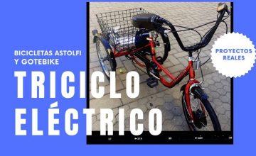 Triciclo con kit eléctrico GOTEBIKE