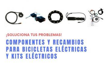 Componentes y recambios para bicicletas eléctricas y kits eléctricos