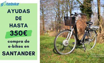 Santander: ayudas de 350 euros en la compra de bicicletas eléctricas