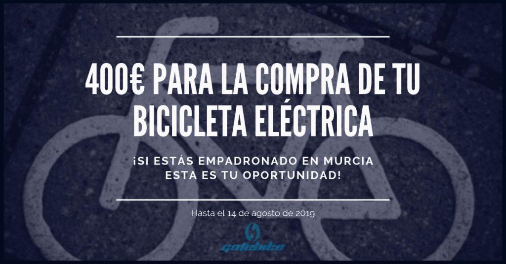 400€ PARA LA COMPRA DE TU BICICLETA ELÉCTRICA GOTEBIKE