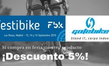 GOTEBIKE participará en FESTIBIKE del 13 al 15 de septiembre en el recinto Ferial de Las Rozas